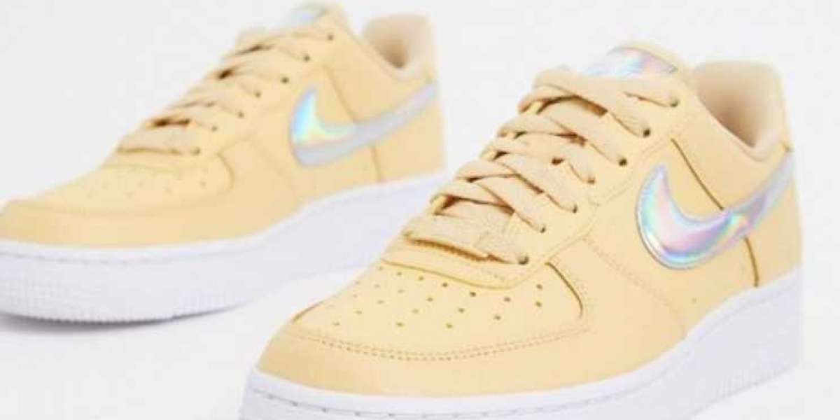 Buy Discount Nike Air Force 1 Beige White Iridescent