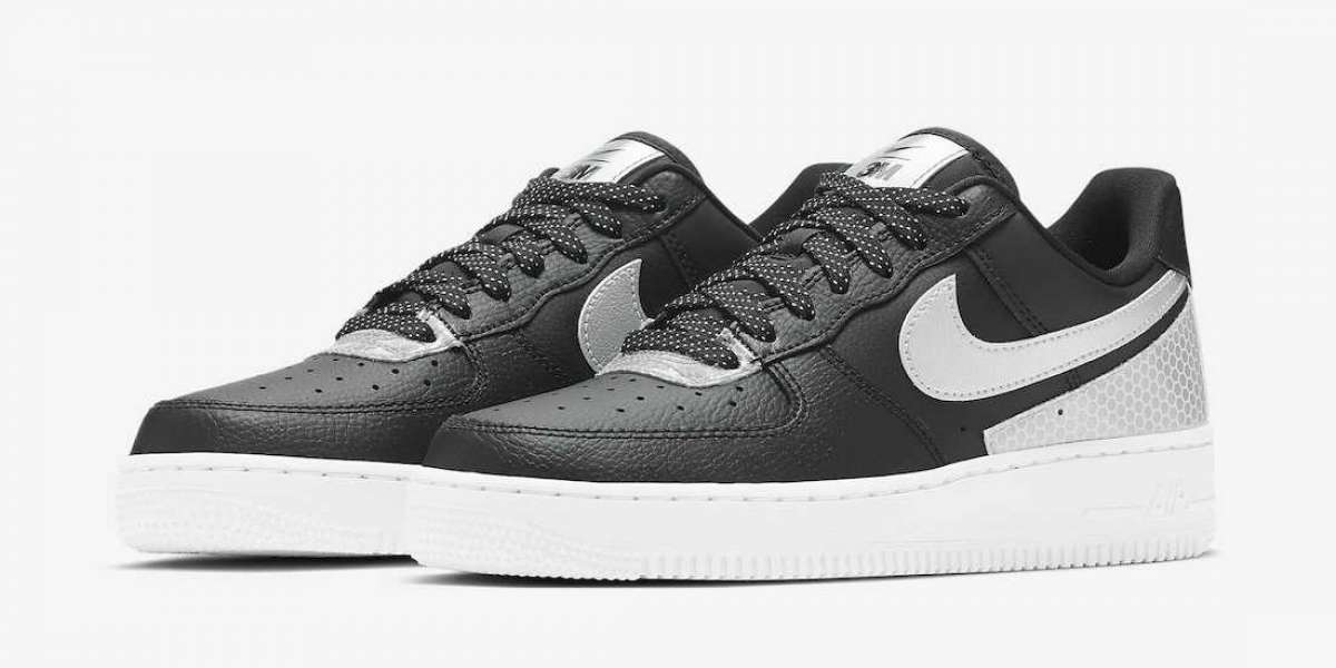 "Brand New 3M x Nike Air Force 1 Low ""Black Reflect"" CT1992-001"