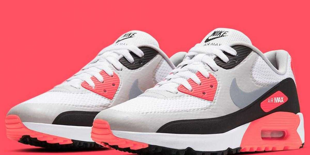 "2021 Nike Air Max 90 Golf Shoe Returns In ""Infrared"" Colorway"